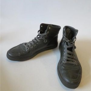 GUCCI LEATHER HIGH TOP SNEAKER 259847 8.5G/US 10*